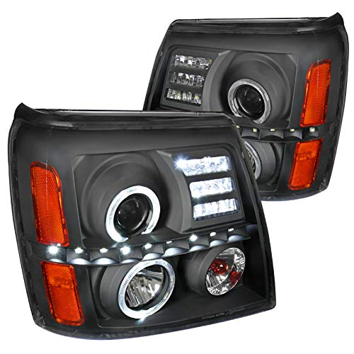 Spec-D Tuning 2LHP-ECLD02JM-RS Black Projector Headlight (Housing- Not Compatible With Factory Xenon)
