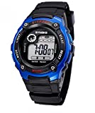 Water Resistant Digital Electronic Military Outdoor Wrist Sport Watch For Age 7-15 Years Old Blue