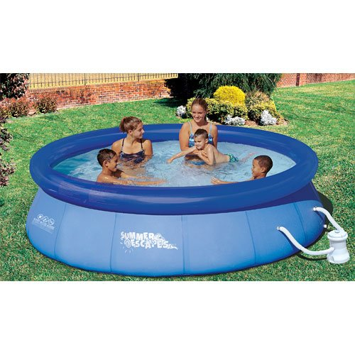 Amazon.com: Summer Escapes 10-Feet-by-30-Inch Quick Set Ring Pool ...