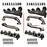 PPE RACE EXHAUST MANIFOLDS WITH UP-PIPES WITH D PIPE FOR SINGLE TURBO (2001 - 2016 GM DURAMAX 6.6L) - 11611101