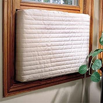 Indoor Air Conditioner Cover 17u0026quot; X 25u0026quot; Quilted Beige ...
