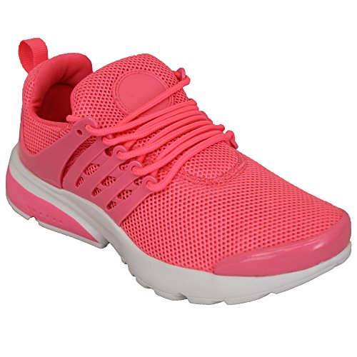 up Pink Trainers Lightweight Running Lace Casual Shoes Active Womens Ladies Gym Mesh aRxqtda