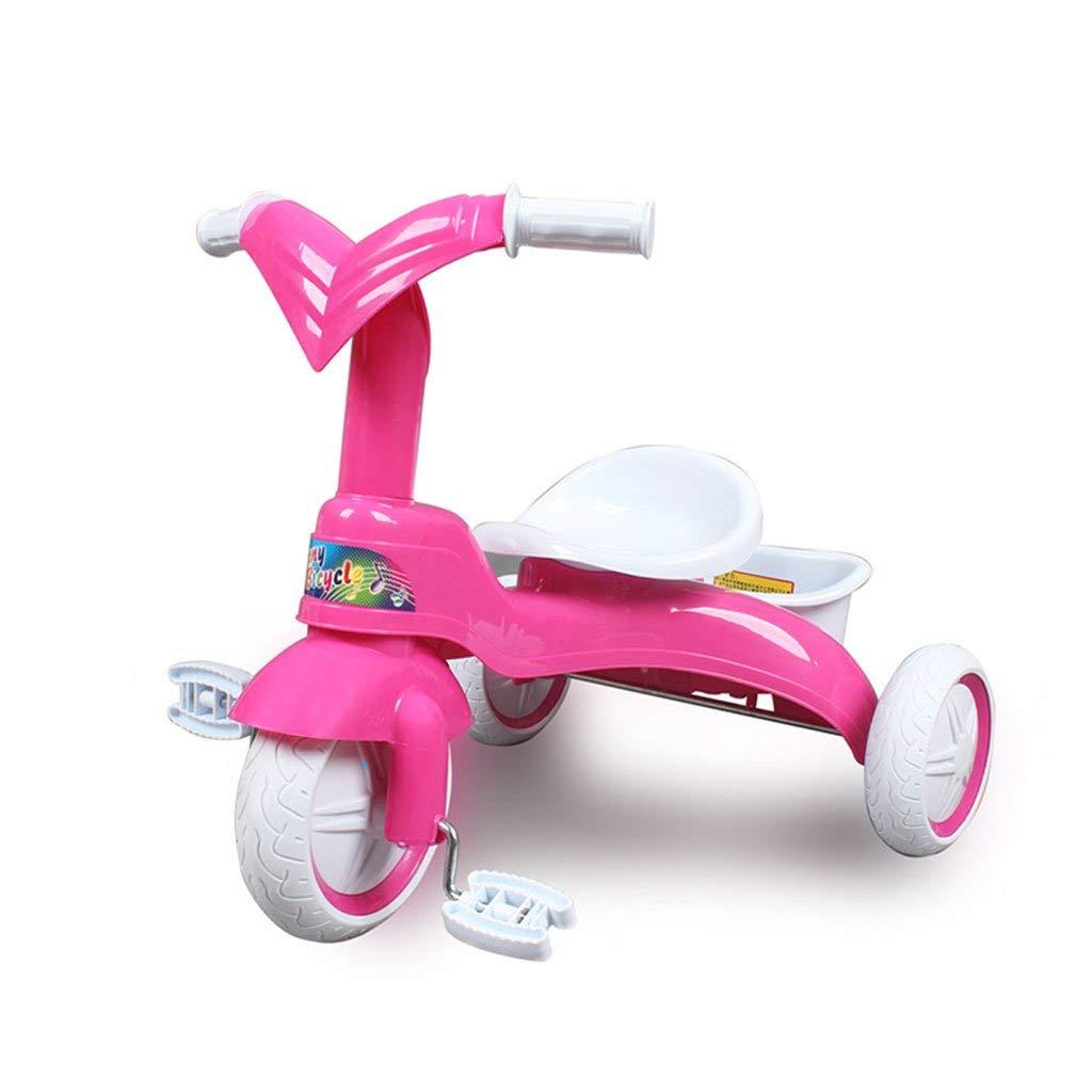 ファッション子供用自転車 軽量の耐震性の泡立つ車輪の子供1-3歳のトロイの赤ん坊のキャリッジ  ローズレッド B07R9NZDRD