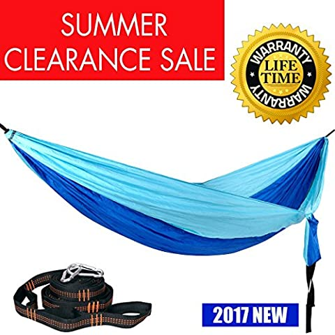 Double Camping Hammock with Hammock Straps 2017 Upgraded Great Home Best Nylon Pocket Portable Hammock