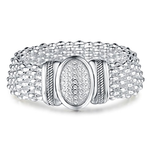 UNY Austrian Pave Crystals designer Inspired personality Bracelets bangle jewelry Vintage -