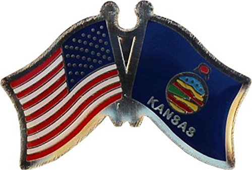 ALBATROS Pack of 3 USA American Kansas State Flag Lapel Pin for Bike Hat and Cap for Home and Parades, Official Party, All Weather Indoors Outdoors