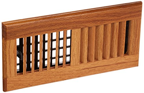 (Decor Grates WL410-M 4-Inch by 10-Inch Wood Louver Floor Register, Medium)