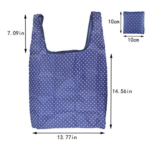 d7155cf21 6 Pack Reusable Grocery Bags Foldable Cute Shopping Tote Bag Eco Friendly  Large Nylon Oxford Shopping