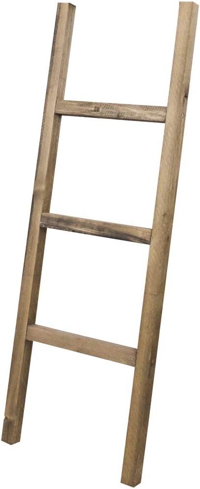 Decowood - Escalera de Madera Decorativa con 3 Peldaños, Madera Envejecida - 118x41 cm: Amazon.es: Bricolaje y herramientas