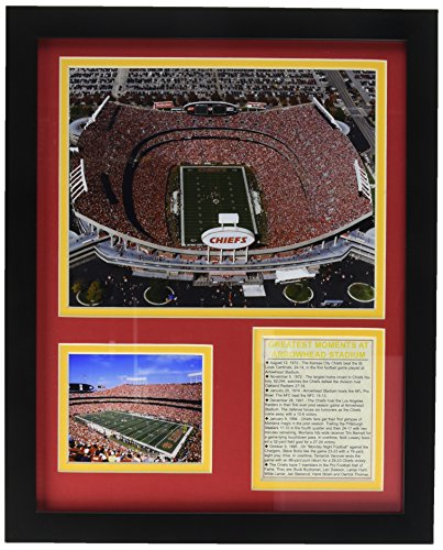 Legends Never Die Kansas City Chiefs Arrowhead Stadium Aerial Framed Photo Collage, 11 by 14-Inch