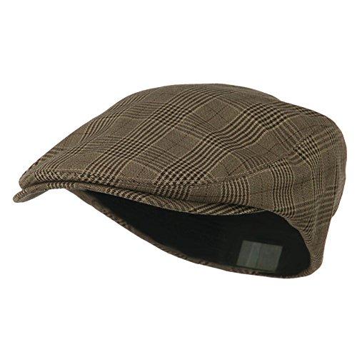 BROWN Plaid Ivy Newsboy Cabbie Cap ()