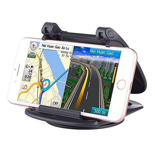 Cell Phone and GPS Holder for Car,Dashboard Car Mounts for iPhone X 8 Plus 7 Plus 6 6S Plus, Non-Slip GPS Mount Car Cradles for Galaxy Note8 S8 Plus S7 Edge and 3-6.5 inch Smartphone or GPS Devices.
