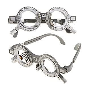Homyl 2pcs Professional Adjustable Universal Optical Trial Lens Frame Eyeglasses Optometry Optician Optic Test Trial Lenses Frame 62mm 58mm