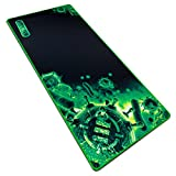 "Extended Gaming Mouse Pad Large Mouse Pad - XL Mouse Mat (31.5"" x 13.75"") Anti-Fray Stitching for Professional eSports with Low-Friction Tracking Surface and Non-Slip Backing - Green"