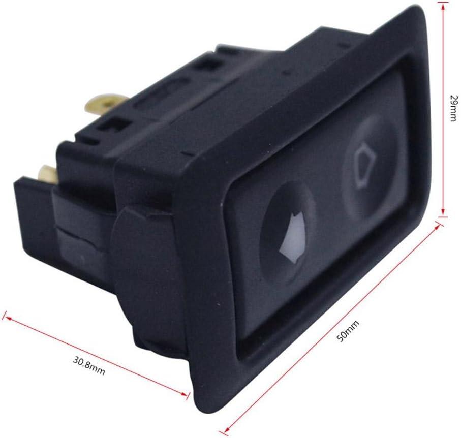 kingpo Car Elevalunas eléctrico con luz verde1PC / Packs Universal 6Pin 12-24V
