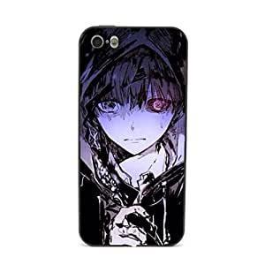 CaseCityLiu - Pattern8 Tokyo Ghoul Jin Muyan Cartoon Design Black Bumper Metal Frame Full Armor Protect Case Cover for Apple iPhone 5 5s 5th 5g 5Generation