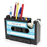 Cassette Tape Dispenser Pen Holder Vase Pencil Pot Stationery Desk Tidy Container Office Stationery Supplier Gift-onepalace (blue)
