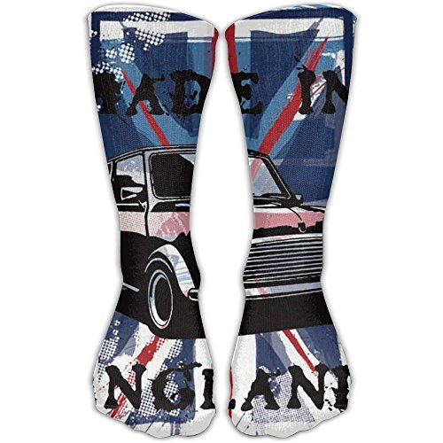 Unisex Car Made In England Socks Over The Knee 20-30mmHg Graduated Compression Best For Medical Nursing Casuel Hiking Travel & Flight Beautiful Present (In England Christmas Facts About)