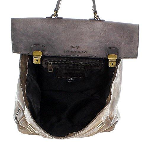UNDICI-DIECI - Bolso mochila  para mujer Marrón marrón