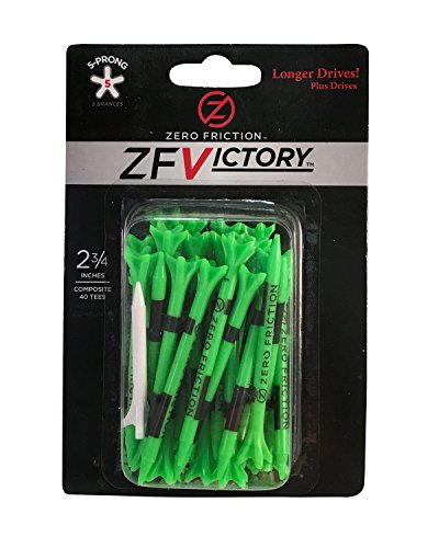 Zero Friction Victory 5-Prong Golf Tees (2-3/4 Inch, Green, Pack of -