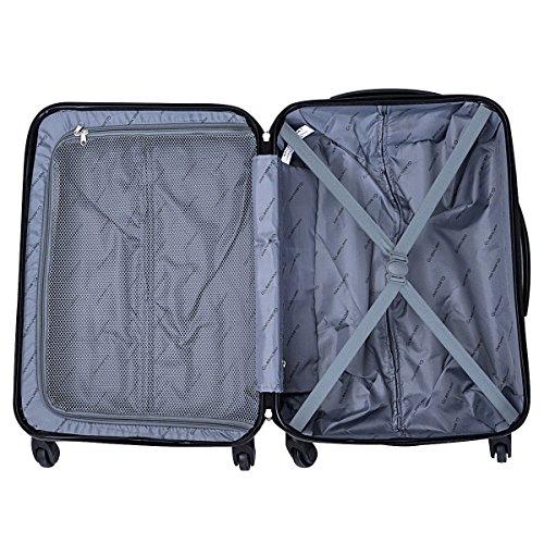 Goplus 3 Pcs Luggage Set ABS Hardshell Travel Bag Trolley Suitcase w/TSA Lock (Grey) by Goplus (Image #7)
