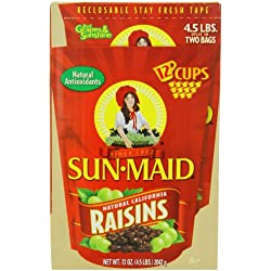 Sun Maid Natural California Raisins, 4.5-Pounds Package