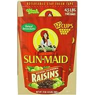 Sun Maid Natural California Raisins, 4.5-Pounds Package
