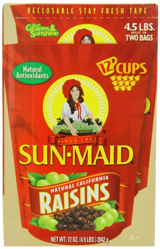 Sun Raisins Maid (Sun Maid Natural California Raisins, 4.5-Pounds Package)