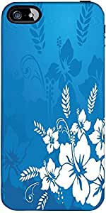 Snoogg Vector Wallpaper Resumen De Temas Florales En Azul Diseñador Protector...