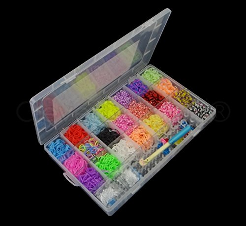4400 Colourful Rainbow Rubber Loom Bands Bracelet Making Kit Set with S-clips (Rainbow Loom C Clips Only compare prices)