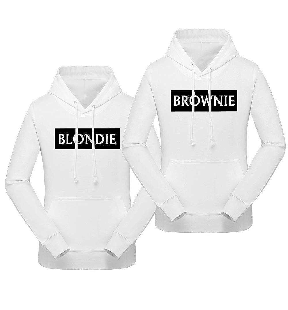 Blondie Brownie Hoodie BFF Pullover f/ür Zwei M/ädchen Freundin Hoodie Sister Pulli Schwarz 2 St/ücke
