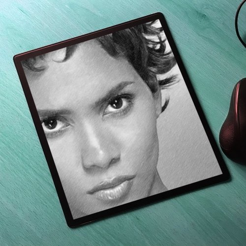 - HALLE BERRY - Original Art Mouse Mat (Signed by the Artist) #js001