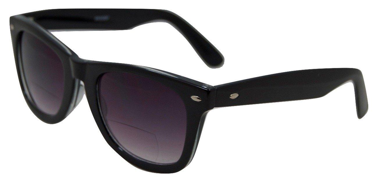 In Style Eyes EyeCool Dark Lens Wayfarer Bifocal Sunglasses Black 1.50