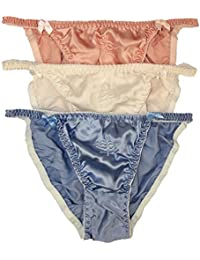NWT Lot 3 Silk Women s String Bikinis Panties M(25