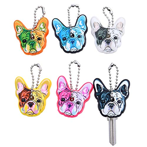 Bulldog Keychain - Stock Show 6Pcs/Pack Cute French Bulldog