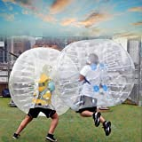 eshion 1.5M Inflatable Bubble Balls,TPU Transparent Human Knocker Zorb Bumper Ball Bubble Soccer with Safety Rope for Children Teens Adult