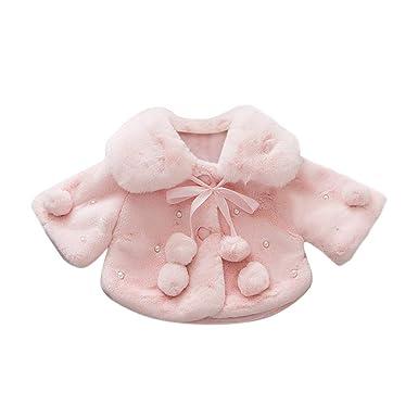 232015a02 Amazon.com  dumanfs Baby Infant Girls Autumn Winter Coat Cloak ...