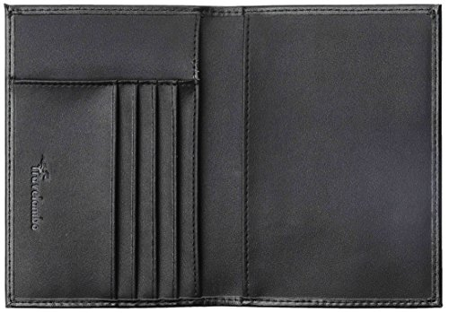 Travelambo RFID Blocking Genuine Leather Passport Holder Wallet Cover(black)