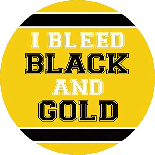 (CAR COASTER-Single (1) Absorbent Stone Coasters for Cup Holders-BLEED BLACK & GOLD)
