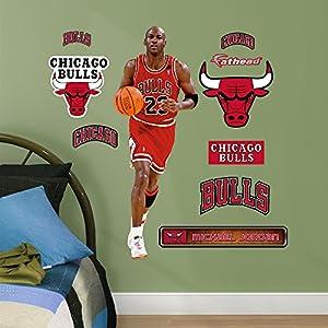 NBA Chicago Bulls Michael Jordan Fathead Junior Wall Decals, 1u00273 Part 84