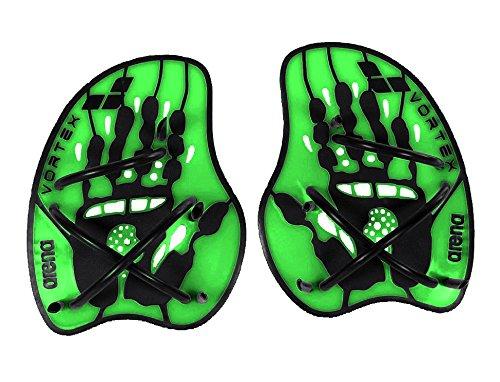 - arena Vortex Evolution Hand Paddle, Acid Lime/Black, Medium
