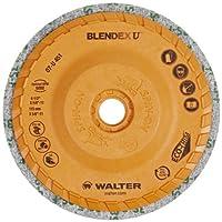 "Walter Blendex U Cup Disc, 10500 Maximum RPM, 4-1/2"" Diameter, 5/8""-11 Arbor, Grit 3SF (Pack of 5)"