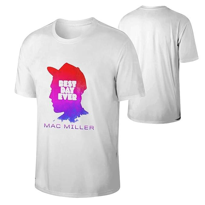 57ed9b995 Amazon.com: Man Mac Miller Funny T Shirt Young Music Band Tee Black ...