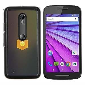 Cubo simple- Metal de aluminio y de plástico duro Caja del teléfono - Negro - Motorola Moto G (3rd gen) / G3
