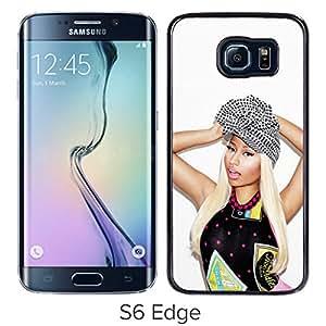 Fashionable Custom Designed Cover Case For Samsung Galaxy S6 Edge With Nicki Minaj Black Phone Case