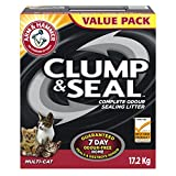 ARM & HAMMER Clump & Seal Cat Litter, Multi-Cat, 17.2-kg