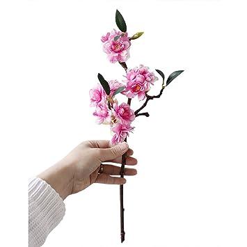 Amazon uhbgt artificial japanese cherry blossoms branch silk uhbgt artificial japanese cherry blossoms branch silk flower tree party home decor rose red1pcs mightylinksfo