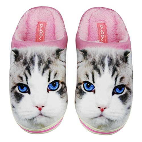 Fakeface Chaussons Chaussons Femme Chat Pour Pour Femme Chat Fakeface xqwtzqX