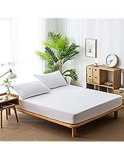 غطاء حماية للمرتبة مقاوم للماء من Mainstayae غطاء سرير مقاوم للأتربة أغطية ناعمة من القطن المزغّب