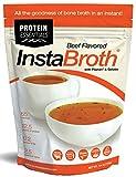 InstaBroth Pasture-Raised Peptan Collagen and Gelatin Rich Bone Broth Powder with 12.5g Protein (6.4oz)
